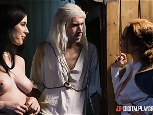 babes Ella and Olive fantasy plow with monster fuck-stick