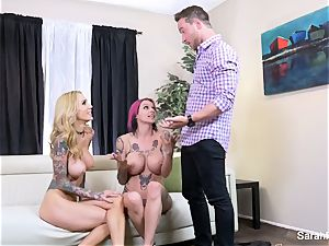Anna Bell surprises her husband with Sarah Jessie
