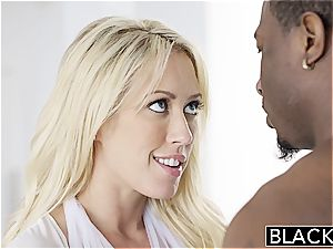 BLACKED Capri Cavannii luvs hefty black lollipop internal ejaculation