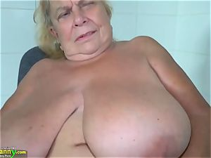 old nanny Messing with her mature minge