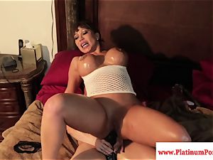 cool Brandi May and Ava Devine play with toys