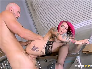 torrid boss Anna Bell Peaks rides her employees bone