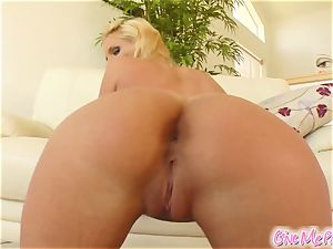 Phoenix's coochie gets tasty from her monster dildo