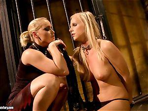 Kathia Nobili kinky prison guard tormenting a torrid babe